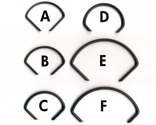 """Bag of 10 """"C"""" Ring"""