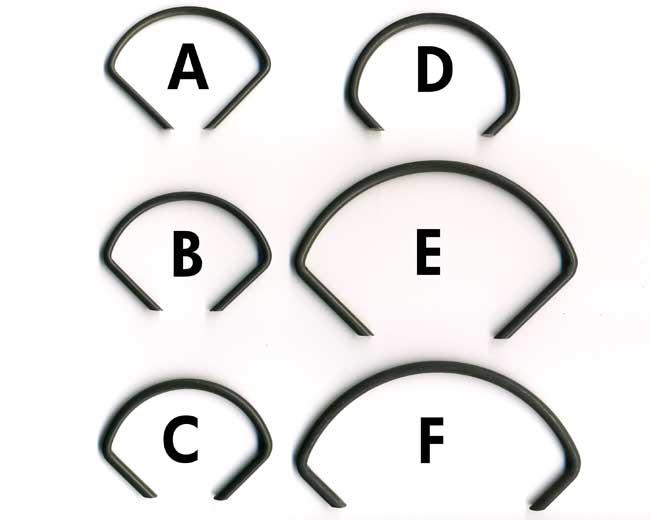 """Bag of 10 """"E"""" Ring"""
